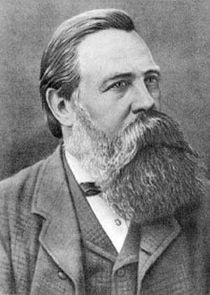 Engels: a man with a compelling beard